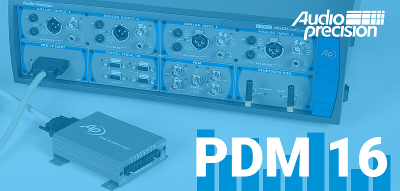 Moduł PDM 16 dla analizatorów audio APx